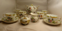 Herendi Viktória mintás 6 személyes teás készlet