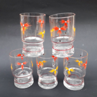 Festett üveges likőrös pohárkák