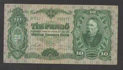 10 pengő 1929.  VF!!  NAGYON SZÉP!!