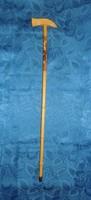 Őz díszes régi fokos sétabot fából 77 cm