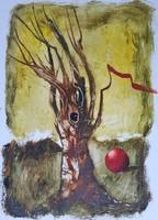 Győrfi András - Fa 40 x 30 cm olaj, karton