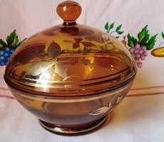 Színes üveg bonbonier