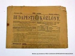 1941 október 4  /  BUDAPESTI KÖZLÖNY  /  Régi ÚJSÁGOK KÉPREGÉNYEK MAGAZINOK Szs.:  9033