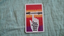 Kártyanaptár munkavédelem 1978