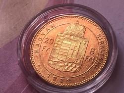 1882 arany 8 forint gyönyörű darab,ritkább 6,45 gramm 0,900