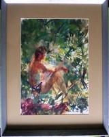 Juhász Erika: Lesen (akvarell)