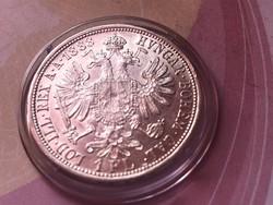 1888 ezüst 1 florin,gyönyörű darab kapszulában,így nagyon ritka!!