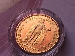 1897 arany 20 korona 6,77 gramm 0,900 gyönyörű darab
