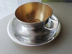 Ezüst  875 ös Grúz teáscsésze és csésze alj. 1920 as évek