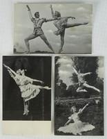 0W184 Fekete-fehér Diótörő balett képeslap 3 darab