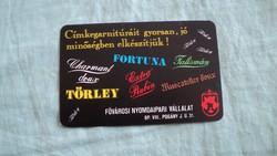 Kártyanaptár nyomdaipar 1987