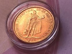 1893 arany 20 korona 6,77 gramm 0,900 szép darab