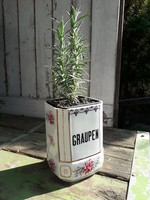 Régi fajansz fűszertartó - fedél nélkül mint váza vagy kaspó hasznosítható