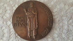 Ritka bronz plakett (Rumi Rajki István ,Múpártoló Kör)