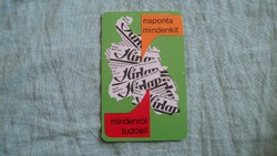 Kártyanaptár hírlap 1979