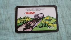 Kártyanaptár áfor  1979