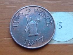 GUERNSEY 2 TWO PENCE 1977 SZÉLMALOM 3.