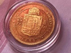 1878 arany 8 forint gyönyörű darab,ritkább 6,45 gramm 0,900