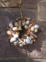 Fürjtojásból húsvéti tojáskoszorú dekoráció átm.24 cm