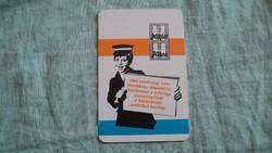 Kártyanaptár hétfői hirek  1979