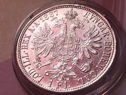 1887 ezüst 1 florin,szép darab darab,kapszulában