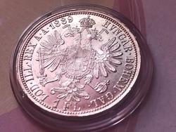 1889 ezüst 1 florin,verdefényes aUNC darab kapszulában,így nagyon ritka!!