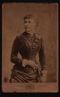 Antik fotó - Női portré. cca. (1880 -1900) Carl Lagerspacher fényképírói műterem, Wien!