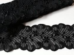 Fekete dekorcsík,szalag,légcsipke 9m x7 cm