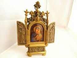 Antik porcelán házi oltár cca.1850