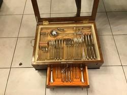 Ezüst 6 személyes barokkos evőeszközkészlet