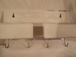 Polcos fogas - régi - vastag fém 23 x 17 x 7 cm - festékhibán kívül - hibátlan
