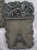 Falidísz - Eiffel toronnyal -  műgyanta - anikzöld színű - Francia - nagy 31 x 20 x 3 cm