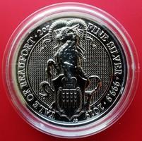 ÚJ 2019 Nagy-Britannia két uncia (62,2 g) Yale ezüst 5 font érme, Ag 9999 színezüst