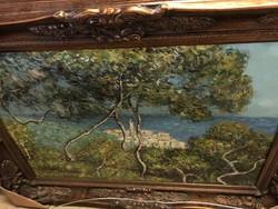 Cédrusok, olaj vászon festmény