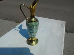 Réz karafa porcelán betéttel