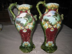 Váza pár   , való színű körmöcbányai     26 cm