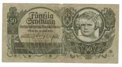 50 schilling 1945 Ausztria Ritka
