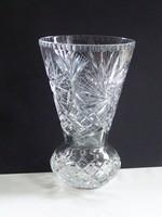 Gyönyörű hibátlan ,nehéz vastag kristály váza.