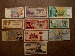 10 db külföldi vegyes bankjegy/id 7724/