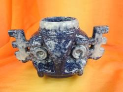 Kelta fej váza - jelzett