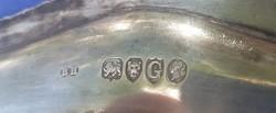 Antik ezüst tálca 1882-ből 590 g.925