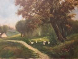 Neogrády László olaj,vászon festmény