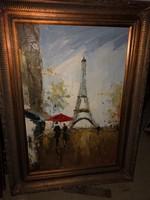 Olaj vászon festmény blondel keret,párizs