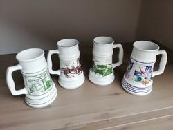 4 db Alföldi porcelán korsó