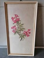Szép festett selyemkép 1959