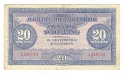 20 schilling 1944 Ausztria katonai