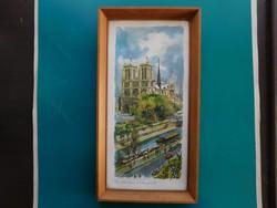 Notre Dame és környéke egykoron, üveg alatti reprodukció