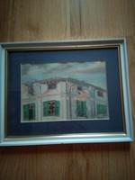 Restaurált akvarell festmény