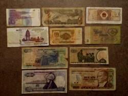 10 db külföldi vegyes bankjegy/id 7731/