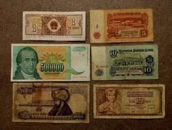 6 db külföldi vegyes bankjegy/id 7743/